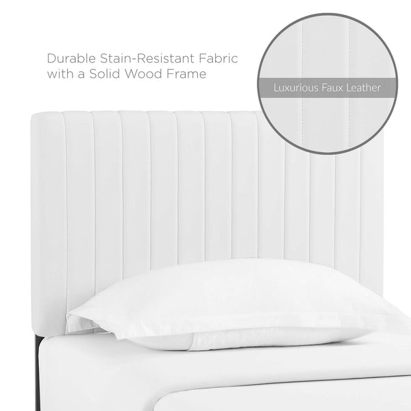 Keira Twin Faux Leather Headboard