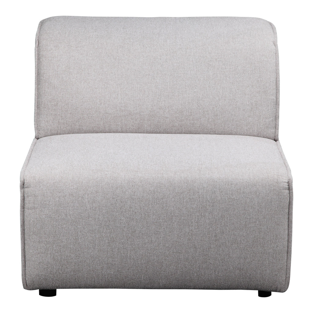 Moe's Home Collection MT-1014-29 Rodeo Slipper Chair Light Grey