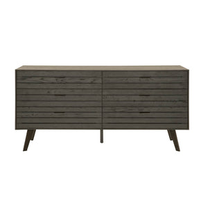 Star International Furniture 4656.OAK/BN Mesa Double Dresser Carbon Oak | Black Nickel