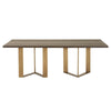 Midtown Dining Table Whiskey Oak, Brass