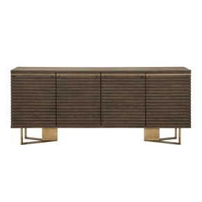 Orient Express Furniture 4637.WOAK/BRA Midtown Sideboard Whiskey Oak, Brass
