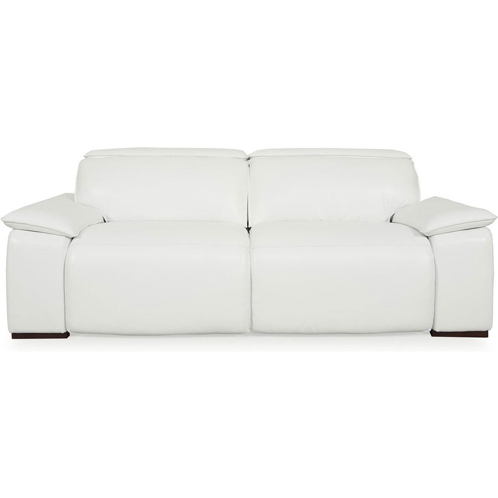 Miraculous Buy Moroni 56838D2031 Yorbita Motorized Loveseat Pure White Full Leather At Contemporary Furniture Warehouse Gmtry Best Dining Table And Chair Ideas Images Gmtryco
