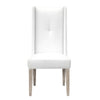 Morgan Dining Chair (Set of 2) White Faux Hyde, Natural Gray