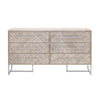 Dressers - Orient Express Furniture 6049.NG Mosaic Double Dresser Natural Gray, Brushed Stainless Steel | 842279110253 | Only $1649.00. Buy today at http://www.contemporaryfurniturewarehouse.com