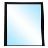 Star International Furniture 1110.MBO Motif Wall Mirror Matte Black Oak