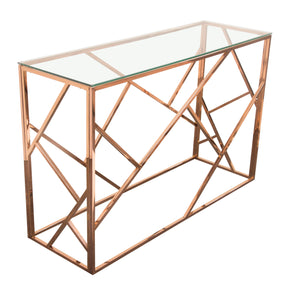 Console Tables - Diamond Sofa NESTCSRG Nest Rectangular Console Table Rose Gold Finish | 641427620251 | Only $599.00. Buy today at http://www.contemporaryfurniturewarehouse.com