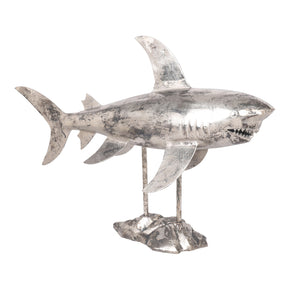 Moe's Home Collection NM-1022-30 Shark Sculpture Antique Nickel