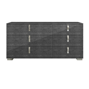 Dressers - Star International Furniture 2126.GBHG Noble Double Dresser Grey Birch High Gloss, Chrome Foil Trim | 842279100872 | Only $1529.00. Buy today at http://www.contemporaryfurniturewarehouse.com