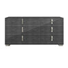 Dressers - Star International Furniture 2126.GBHG Noble Double Dresser Grey Birch High Gloss, Chrome Foil Trim | Acrylic Lacquer | 842279100872 | Only $1349.00. Buy today at http://www.contemporaryfurniturewarehouse.com