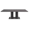 Noble Extension Dining Table Grey Birch High Gloss