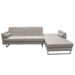 Diamond Sofa OPUSRFSECTBA Opus Convertible Tufted RF Chaise Sectional - BARLEY