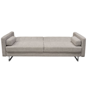 Diamond Sofa OPUSSOBA Opus Convertible Tufted Sofa in Barley Fabric