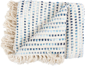 Moe's Home Collection OX-1001-26 Satri Throw Contemporary Modern Blue