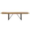 Dining Tables - Orient Express Furniture 6106.TBRN Origin Extension Dining Table Timber Brown, Oil Rubbled Bronze | 842279109141 | Only $1729.00. Buy today at http://www.contemporaryfurniturewarehouse.com