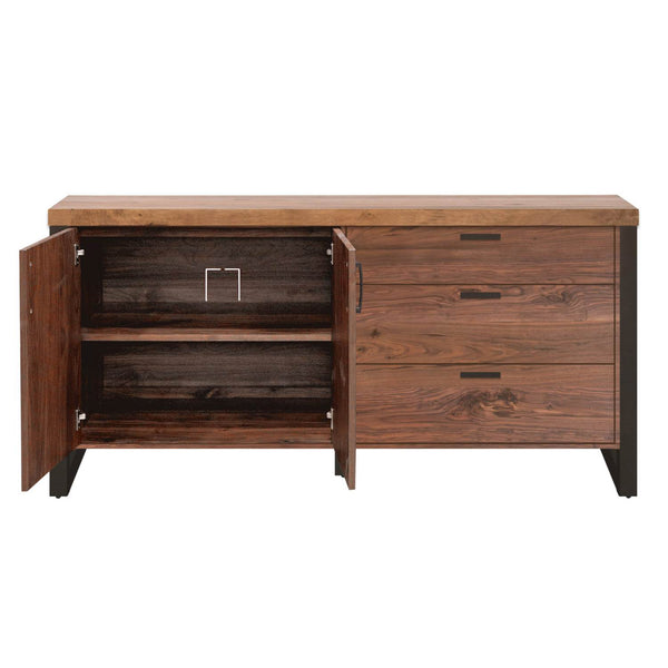 Origin Sideboard Timber Brown, Oil-Rubbed Bronze