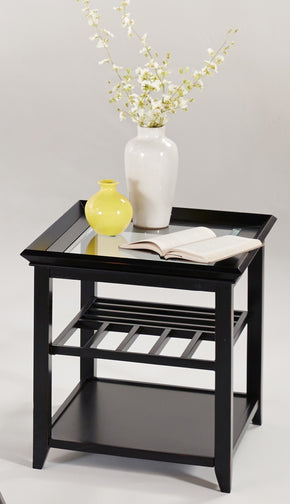 Progressive Furniture P344-29 Sandpiper Contemporary Chairside Table Black