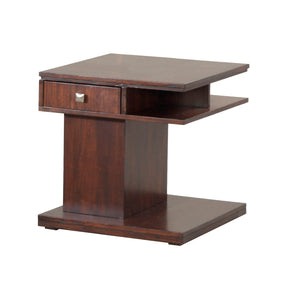 Progressive Furniture P561-04 Le Mans Contemporary Rectangular End Table Mozambique