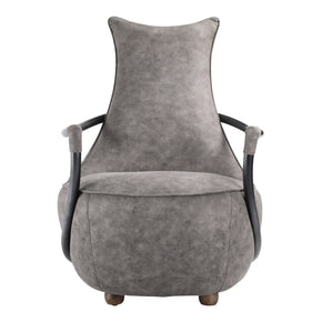 Moe's Home Collection PK-1026-15 Carlisle Club Chair Grey Velvet