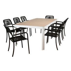 Atlantic Oosterdam 9 Piece Rectangular Patio Dining Set