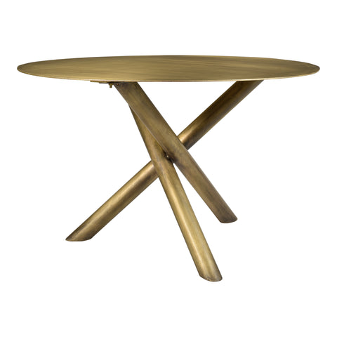 Moe's Home Collection QJ-1003-43 Sonoma Dining Table Brass