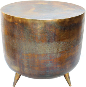 Moe's Home Collection QK-1001-43 Kettel Accent Table Brass Contemporary Modern Brass