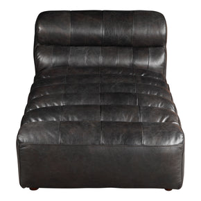 Moe's Home Collection QN-1010-01 Ramsay Leather Chaise