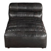 Ramsay Ribbed Top-grain Leather Chaise Antique