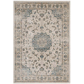 Modway R-1102-810 Atara Distressed Vintage Persian Medallion 8x10 Area Rug Teal and Beige 889654114949