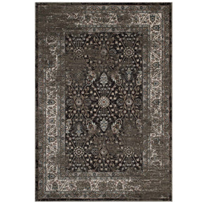 Modway R-1104-58 Berit Distressed Vintage Floral Lattice 5x8 Area Rug Brown and Beige 889654114970