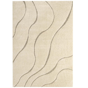 Modway R-1150-58 Abound Abstract Swirl 5x8 Shag Area Rug