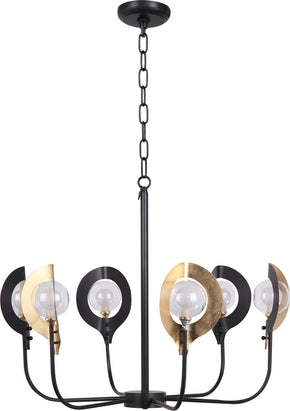 Moe's Home Collection RM-1048-43 Hannah Pendant Lamp Contemporary Modern Brass