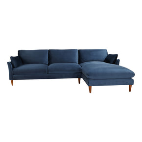 Moe's Home Collection RN-1099-26 Suma Sectional Blue Velvet