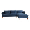 Suma Sectional Blue Velvet