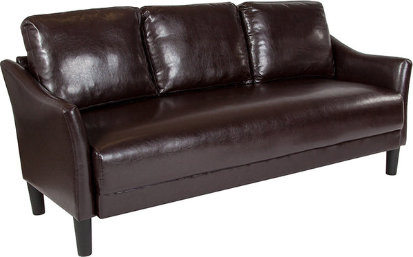 Sofas - Flash Furniture SL-SF915-3-BRN-GG Asti Upholstered Sofa | 889142500247 | Only $339.80. Buy today at http://www.contemporaryfurniturewarehouse.com