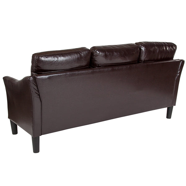 Sofas - Flash Furniture SL-SF915-3-BLK-GG Asti Upholstered Sofa | 889142500278 | Only $339.80. Buy today at http://www.contemporaryfurniturewarehouse.com