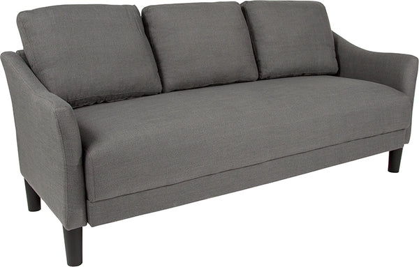 Sofas - Flash Furniture SL-SF915-3-DGY-F-GG Asti Upholstered Sofa | 889142500131 | Only $339.80. Buy today at http://www.contemporaryfurniturewarehouse.com