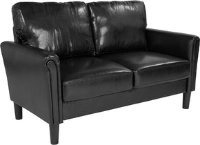 Flash Furniture SL-SF920-2-BLK-GG Bari Upholstered Loveseat in Black Leather 889142500230