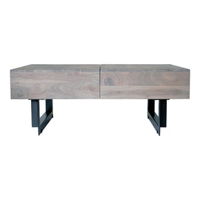 Moe's Home Collection SR-1018-29 Tiburon Storage Coffee Table Pale Grey