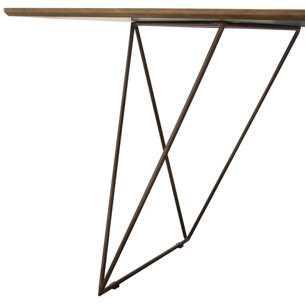 Pleasing Buy Diamond Sofa Stardtwa Star Rectangular Dining Table W Walnut Finished Top And Raw Metal Legs At Contemporary Furniture Warehouse Machost Co Dining Chair Design Ideas Machostcouk