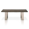 Sodo Dining Table Brushed Charcoal Oak, Brushed Nickel
