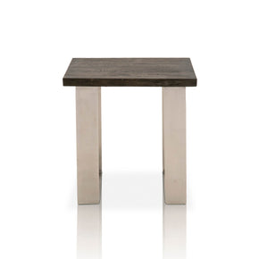 Star International Furniture 4623.BNIC/BCO Sodo End Table Brushed Charcoal Oak, Brushed Nickel