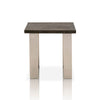 Sodo End Table Brushed Charcoal Oak, Brushed Nickel