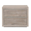 Nightstands - Orient Express Furniture 6071.NG/BSTL Steele 2-Drawer Nightstand Natural Gray, Brushed Stainless Steel | 842279109554 | Only $749.00. Buy today at http://www.contemporaryfurniturewarehouse.com