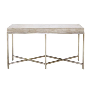 Orient Express Furniture 6119.NG/BSTL Strand Console Table Natural Gray, Brushed Stainless Steel