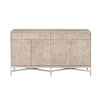 Strand Hexagon Sideboard Natural Gray, Brushed Stainless Steel