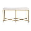 Strand Console Table White Shagreen, Brushed Gold
