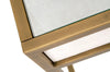 Strand Shagreen Writing Desk White Shagreen, Brushed Gold