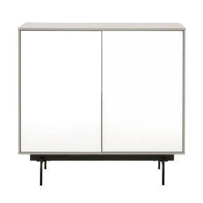 Star International Furniture 1402-BU.MLG/WHG/B Symphony 2-Door Modular Buffet Matte Light Grey, White High Gloss, Black