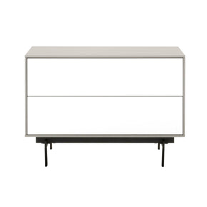 Entertainment Stands - Star International Furniture 1403-TV.MLG/WHG/B Symphony 2-Drawer Modular TV Stand Matte Light Grey, White High Gloss, Black | 842279100445 | Only $529.00. Buy today at http://www.contemporaryfurniturewarehouse.com