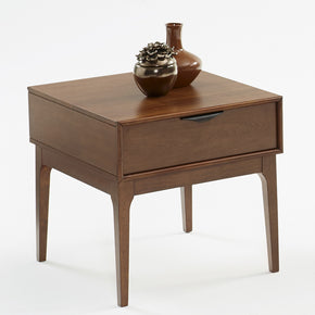 Progressive Furniture T106-04 Mid-Mod Transitional End Table Cinnamon